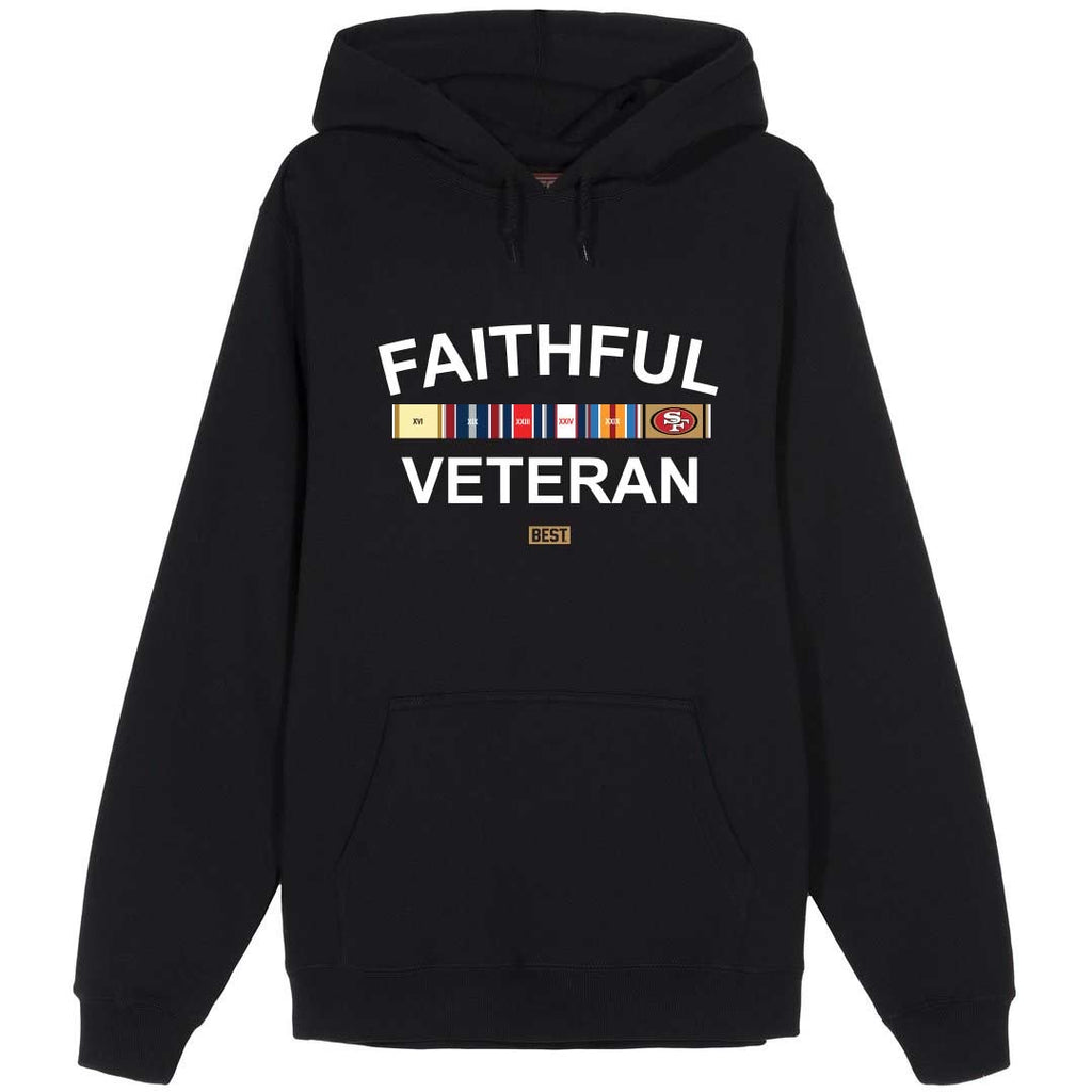 FAITHFUL VETERAN HOODIE BLACK