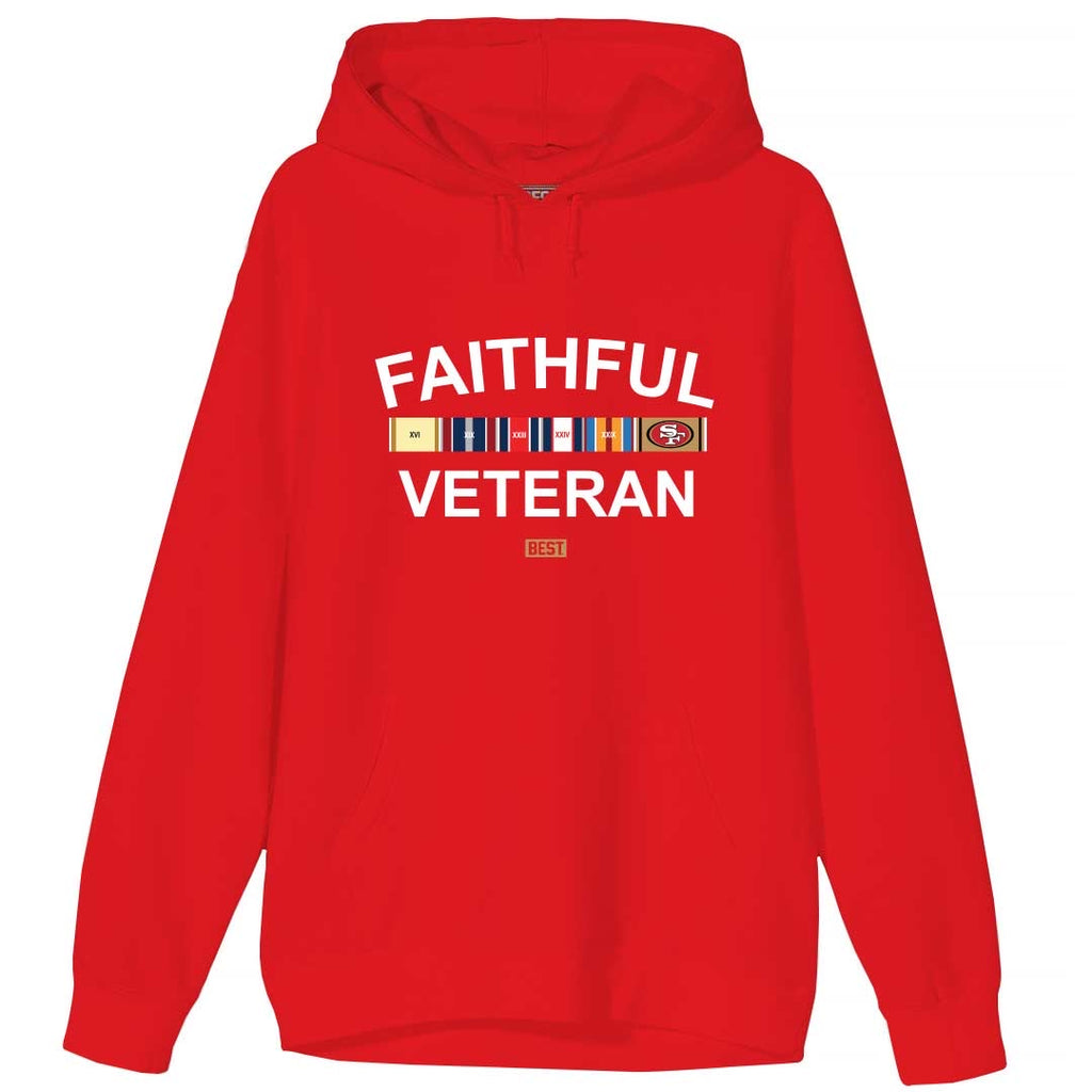 FAITHFUL VETERAN HOODIE RED