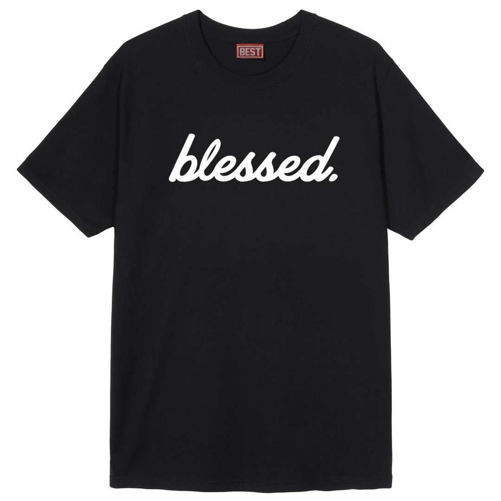 Cursive Blessed Black Tee