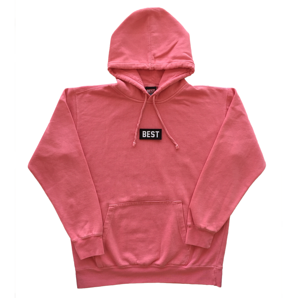 BEST Pigment Dyed Hoodie in Pink