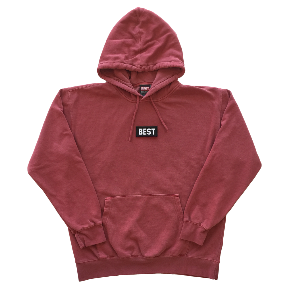 BEST Pigment Dyed Hoodie in Red