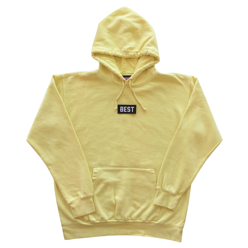 BEST Pigment Dyed Hoodie in Yellow