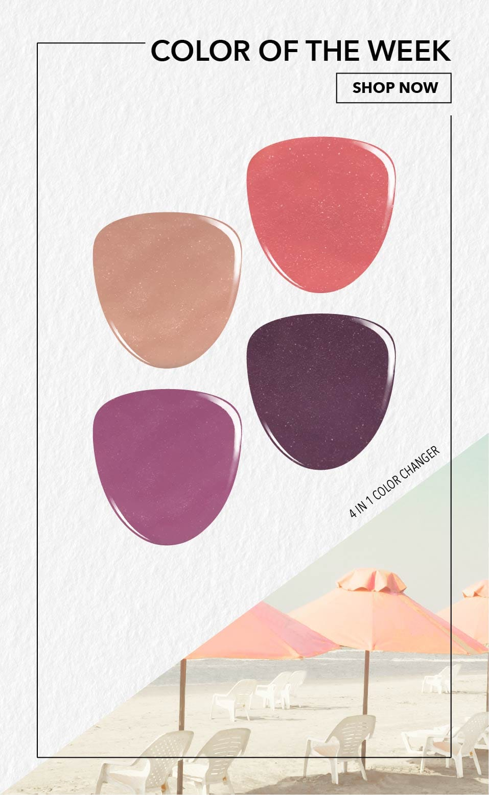 Swatches of Daze Mood and Sun Changing Dip Powder
