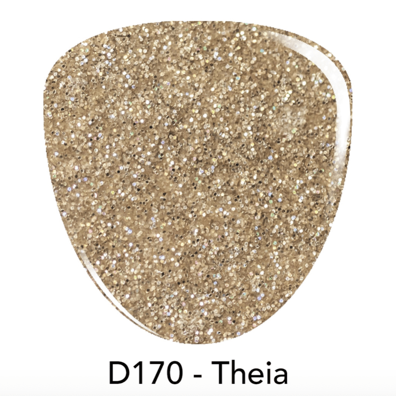 Gold Glitter Dip Powder, D170 Theia. Get the look with dip powder Revel Nail