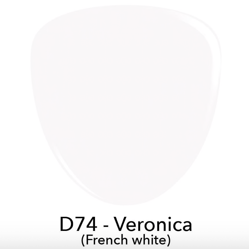 Swatch of D74 Veronica, french white dip powder, revel nail