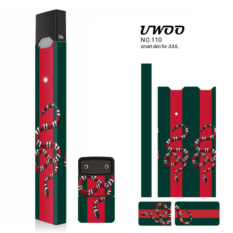 Protective Sticker for JUUL Wrap, JUUL Skin Vinyl Sticker Decal and Charger Skin by UWOO Heat not Burn