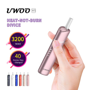 UWOO Y1 heat not burn device consecutive 40 heatsticks compartible with Marlboro and Heets IQOS