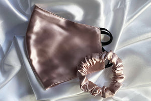 Silk Mask and Scrunchie Set