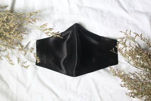 Silk Face Mask in Black