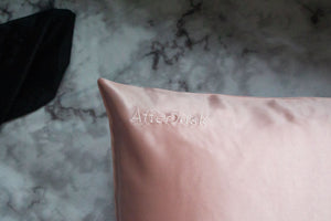 Pure Silk Pillowcase in Dusty Pink