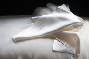 Pure Silk Pillowcase in White