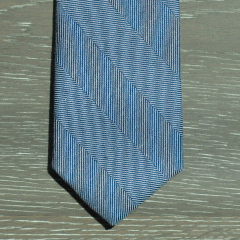 Blue Herringbone Denim Tie