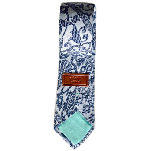 Florals and Vines PolyCotton Tie