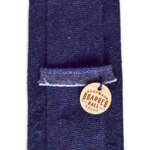 Dark Blue Denim Polka Dot tie