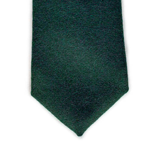 Forest Green Wool and Denim Tie