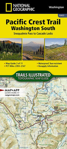 1003 :: Pacific Crest Trail: Washington South [Snoqualmie Pass to Cascade Locks] Map Map Guides EVMAPLINK