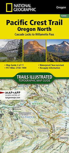 1004 :: Pacific Crest Trail: Oregon North [Cascade Locks to Willamette Pass] Map Map Guides EVMAPLINK