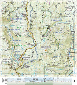 1005 :: Pacific Crest Trail: Oregon South [Willamette Pass to Siskiyou Summit] Map Map Guides EVMAPLINK
