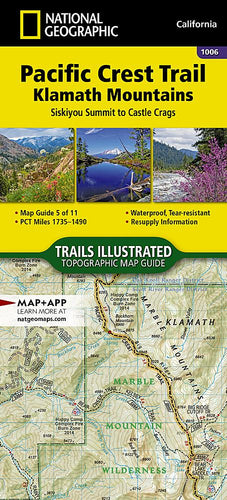 1006 :: Pacific Crest Trail: Klamath Mountains [Siskiyou Summit to Castle Crags] Map Map Guides EVMAPLINK