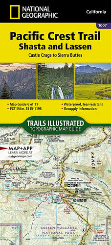 1007 :: Pacific Crest Trail: Shasta and Lassen [Castle Crags to Sierra Buttes] Map Map Guides EVMAPLINK