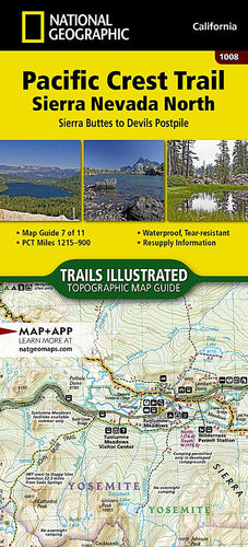 1008 :: Pacific Crest Trail: Sierra Nevada North [Sierra Buttes to Devil's Postpile] Map Map Guides EVMAPLINK