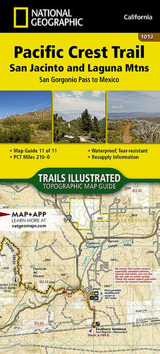 1012 :: Pacific Crest Trail: San Jacinto and Laguna Mountains [San Gorgonio Pass to Mexico] Map Map Guides EVMAPLINK