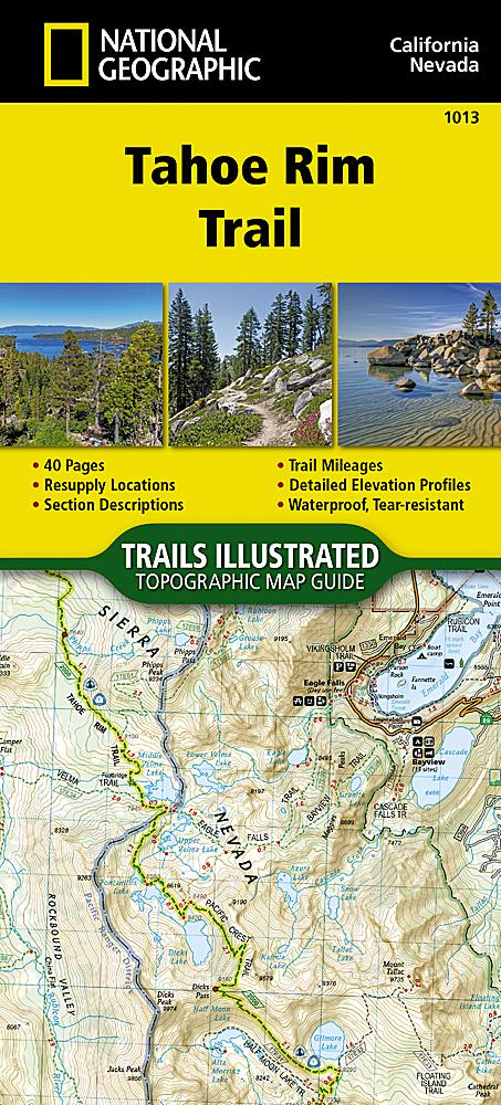 1013 :: Tahoe Rim Trail Map Map Guides EVMAPLINK