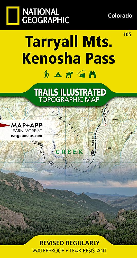 105 :: Tarryall Mountains Kenosha Pass Map Trails Illustrated Maps EVMAPLINK