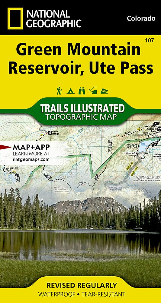 107 :: Green Mountain Reservoir Ute Pass Map Trails Illustrated Maps EVMAPLINK
