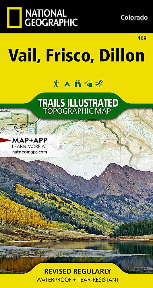 108 :: Vail Frisco Dillon Map Trails Illustrated Maps EVMAPLINK