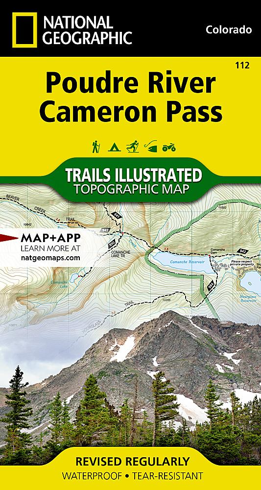 112 :: Poudre River Cameron Pass Map Trails Illustrated Maps EVMAPLINK