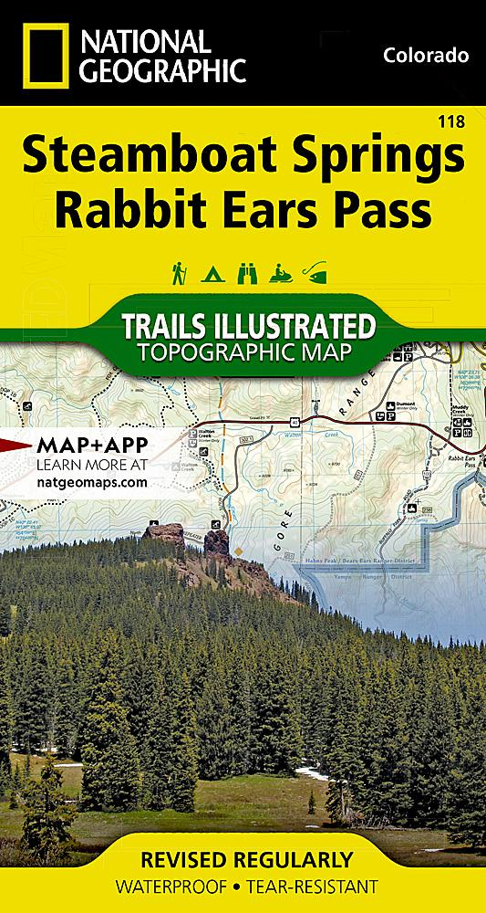 118 :: Steamboat Springs Rabbit Ears Pass Map Trails Illustrated Maps EVMAPLINK