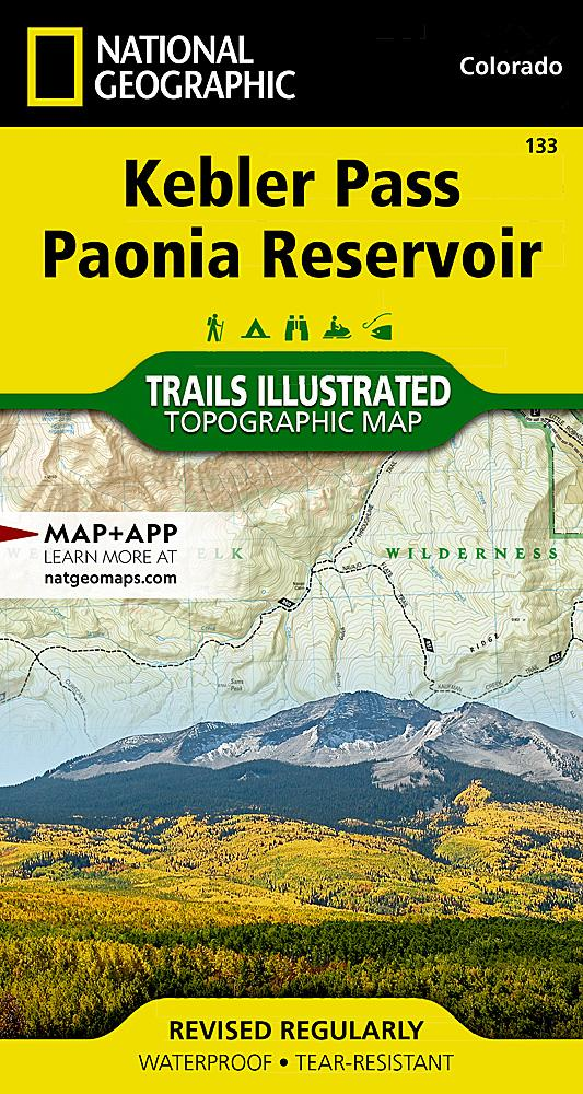 133 :: Kebler Pass Paonia Reservoir Map Trails Illustrated Maps EVMAPLINK