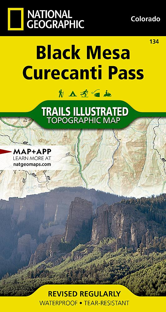 134 :: Black Mesa Curecanti Pass Map Trails Illustrated Maps EVMAPLINK
