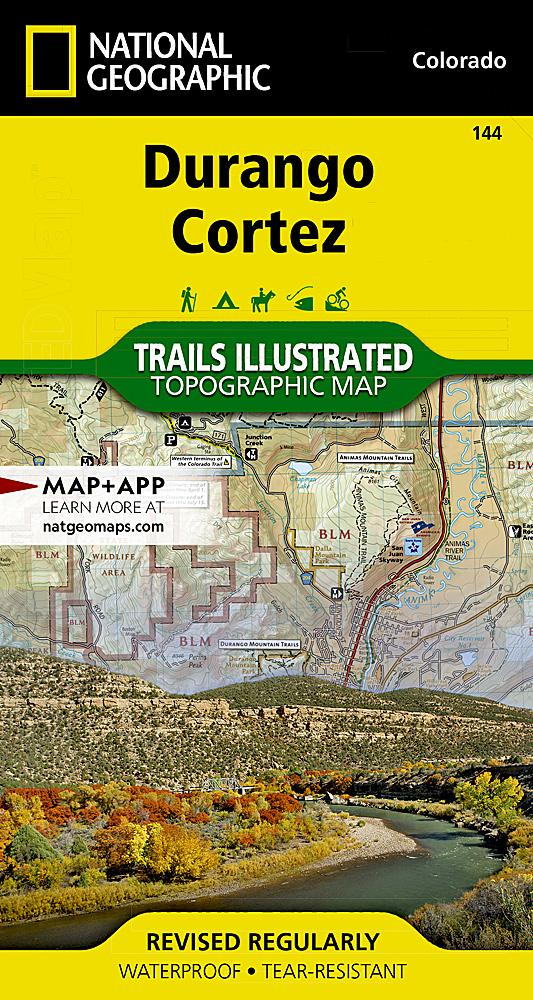 144 :: Durango Cortez Map Trails Illustrated Maps EVMAPLINK