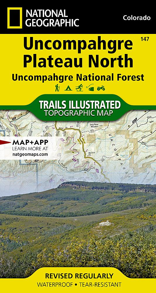 147 :: Uncompahgre Plateau North [Uncompahgre National Forest] Map Trails Illustrated Maps EVMAPLINK