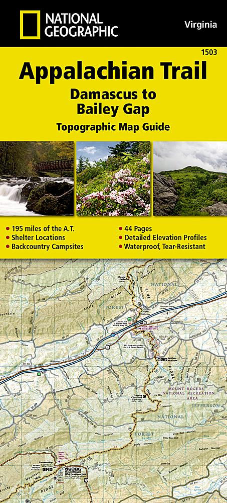 1503 :: Appalachian Trail Damascus to Bailey Gap [Virginia] Map Map Guides EVMAPLINK