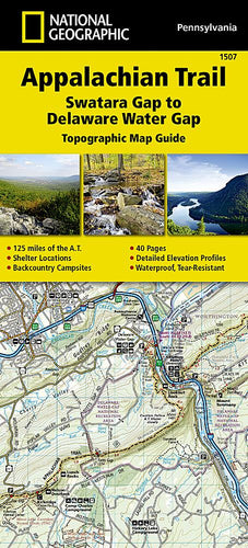 1507 :: Appalachian Trail Swatara Gap to Delaware Water Gap [Pennsylvania] Map Map Guides EVMAPLINK