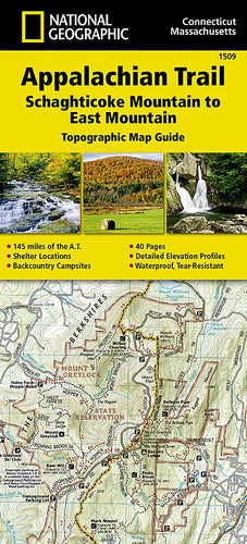 1509 :: Appalachian Trail Schaghticoke Mountain to East Mountain [Connecticut Massachusetts] Map Map Guides Map-N-Hike