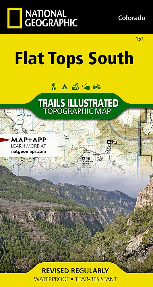 151 :: Flat Tops South Map Trails Illustrated Maps EVMAPLINK
