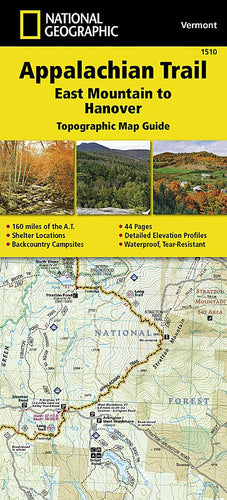 1510 :: Appalachian Trail East Mountain to Hanover [Vermont] Map Map Guides Map-N-Hike