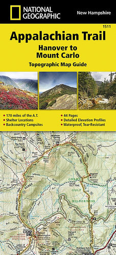 1511 :: Appalachian Trail Hanover to Mount Carlo [New Hampshire] Map Map Guides Map-N-Hike