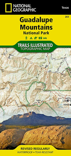 203 :: Guadalupe Mountains National Park Map Trails Illustrated Maps EVMAPLINK