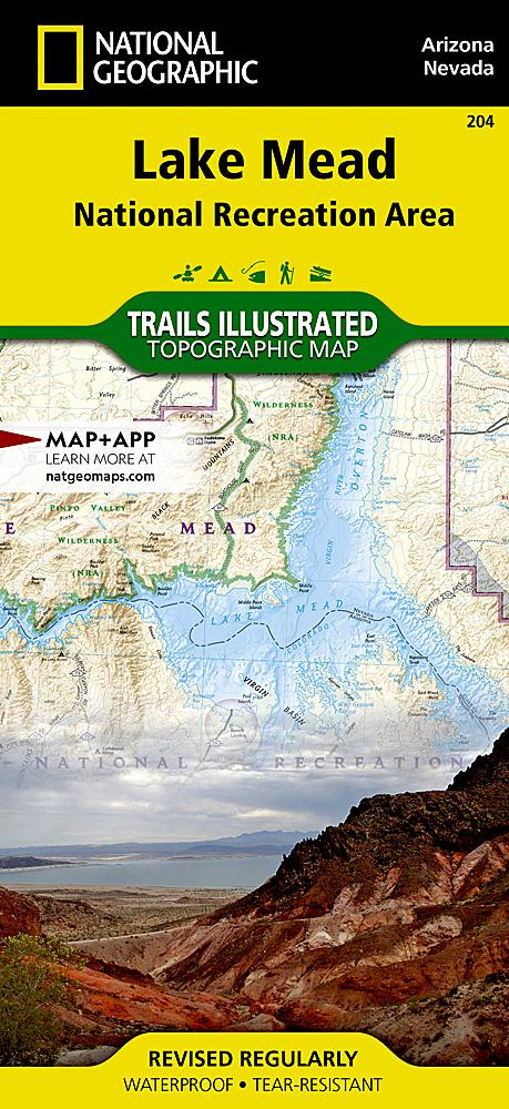 204 :: Lake Mead National Recreation Area Map Trails Illustrated Maps EVMAPLINK
