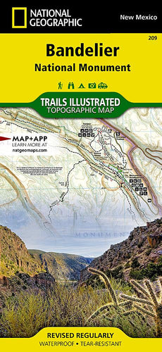 209 :: Bandelier National Monument Map Trails Illustrated Maps EVMAPLINK