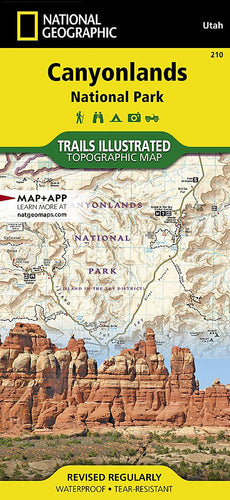 210 :: Canyonlands National Park Map Trails Illustrated Maps EVMAPLINK