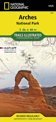 211 :: Arches National Park Map Trails Illustrated Maps EVMAPLINK