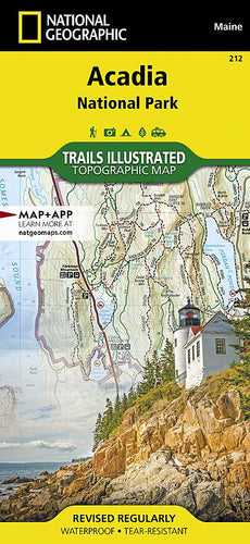 212 :: Acadia National Park Map Trails Illustrated Maps Map-N-Hike