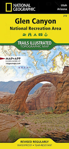 213 :: Glen Canyon National Recreation Area Map Trails Illustrated Maps EVMAPLINK