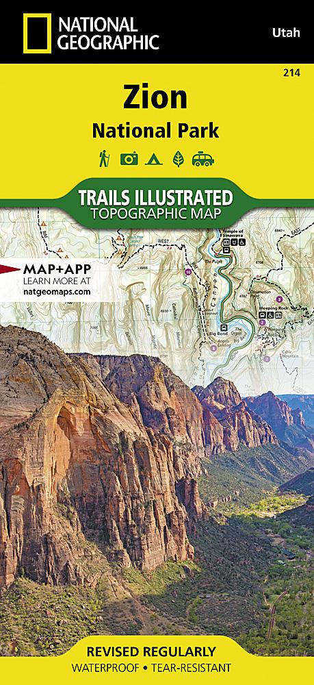 214 :: Zion National Park Map Trails Illustrated Maps EVMAPLINK